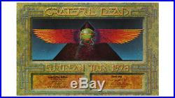 The Grateful Dead European Egypt Tour Poster 1978 Original 1st Printing Kelley