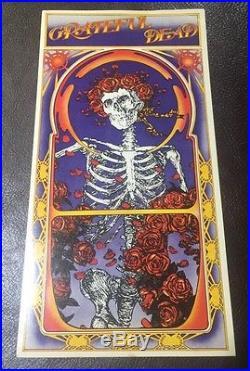 The Grateful Dead Poster Handbill Flyer Card Postcard Vintage Skeleton Roses