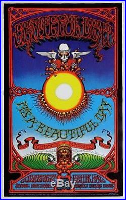 The Grateful Dead in Hawaii Original Concert Poster Rick Griffin 2nd Printing