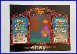 The Who Concert Poster Grateful Dead 1968 Alton Kelley Signed Fillmore West