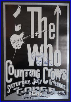 The Who Daltrey/Townshend signed poster BG, FD, AOR