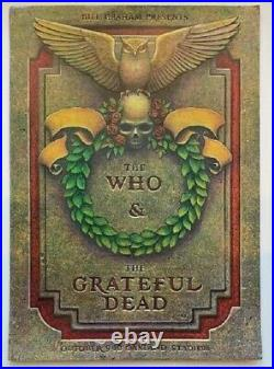 The Who & Grateful Dead Concert Poster Oakland 1976