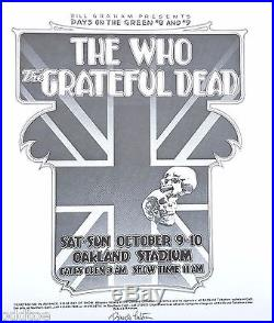 The Who Grateful Dead ORIGINAL Concert Poster signed by Randy Tuten
