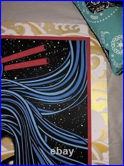 Todd Slater Grateful Dead Art Print GOLD Foil Poster 20/32 not Chuck Sperry RARE