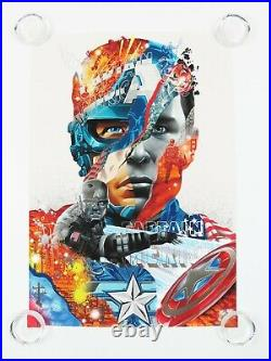 Tristan Eaton Marvel Avengers Fine Art Silver Foil Prints SET of 6 Posters #/100