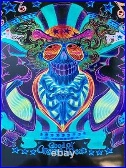 US BLUES PSYCHO SAM VARIANT AP Grateful Dead Poster Signed by AJ Masthay