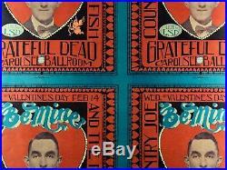 Uncut Sheet of Four 1968 Grateful Dead Posters AOR 2.174
