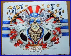 Us Blues Grateful Dead Art Print Jerry Garcia Aj Masthay Poster Dead
