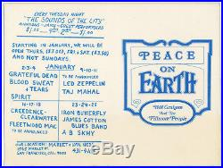 VANILLA FUDGE GRATEFUL DEAD Fillmore West/ W. Land JOINED Mailer NEW YEAR'S EVE