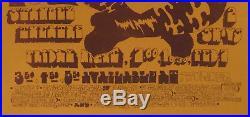 VELVET UNDERGROUND Grateful Dead FUGS Ultra Rare CONCERT POSTER AOR 3.160 EX+