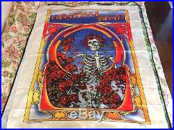 VINTAGE 1983 Grateful Dead silk Tapestry wall poster 45x53