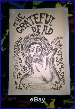 VTG 1967 Grateful Dead Whisky a Go-Go Fillmore-Era Concert Poster -14 DAY RETURN