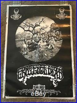 VTG Grateful Dead Jerry Garcia Family Aoxomoxoa Rick Griffin Poster 25x34 3/4