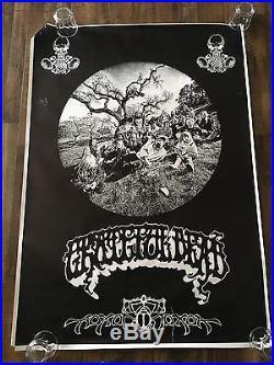 VTG Grateful Dead Jerry Garcia Family Aoxomoxoa Rick Griffin poster XL 54 X 38