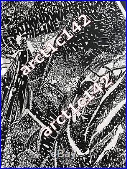 VTG Grateful Dead Jerry Garcia Portrait Mosaic Face Grateful Dead Songs Poster