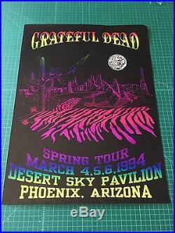 VTG Grateful Dead Jerry Garcia Spring Tour 1994 Desert Sky Pavilion AZ poster