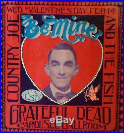 Vg Carousel Grateful Dead Mouse Valentine Fillmore Family Dog Era Poster