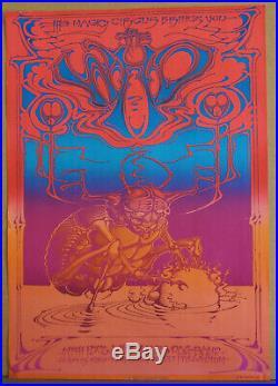 Vg+ Rick Griffen The Who Poco Hollywood Palladium Fillmore Family Dog Era Poster