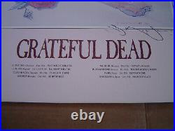 Vintage 1981 Grateful Dead Poster Litho Signed By Stanley Mouse 22x 28 Europe