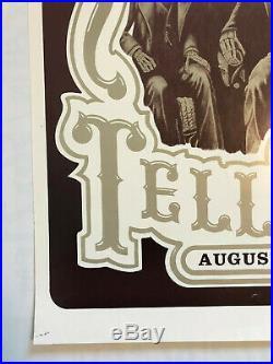 Vintage 1987 Grateful Dead in Telluride Poster Signed Authentic Genuine Original