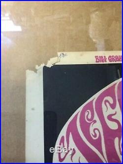 Vintage Bill Graham Concert Poster Jefferson Airplane Grateful Dead