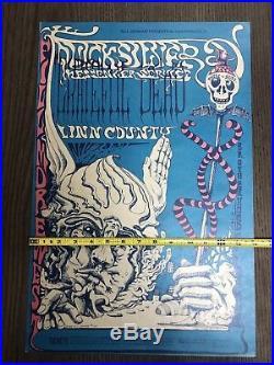 Vintage GRATEFUL DEAD 11-8-1968 Fillmore west concert poster Lee Conklin Manca