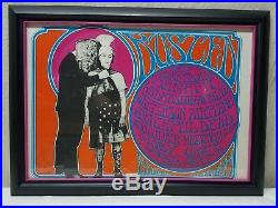 Vintage GRATEFUL DEAD Fillmore Poster BUSTED'67 Signed Mouse Kelley Framed