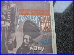 Vintage Grateful Dead, Quicksilver, Avalon 1967, 3 Indian Dudes, FD54, 1st Print