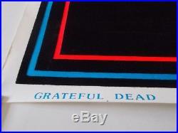 Vintage Grateful Dead Rose Skeleton Blacklight Poster 23x35 RARE Jerry Garcia