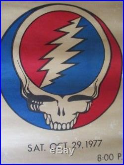Vintage Grateful Dead original 1977 concert poster