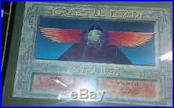 Vintage Greatful Dead 1978 Ggypt Concert Poster Original