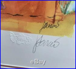Vintage Jerry Garcia Grateful Dead Poet Reflects The War Lithograph Signed /500