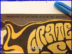 Vintage Original 1966 Bill Graham Grateful Dead San Francisco Fillmore Poster