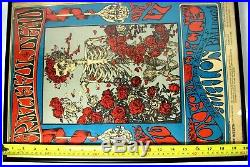 Vintage Original 1966 Grateful Dead Framed Poster Avalon Ballroom 3rd Printing