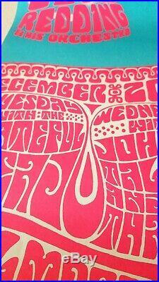 Vintage! Otis Redding/Grateful Dead Fillmore Auditorium Poster Dec 20 1966