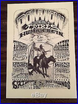 Vintage RICK GRIFFIN Poster HUMAN BE-IN Pow Wow 1967 Psychedelic Grateful Dead