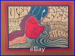 Vintage Wes Wilson'Art Exhibit' Poster 1967 Psychedelic Grateful Dead Style