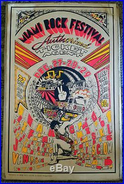 Vtg 1969 Miami Rock Festival Grateful Dead, Santana and More