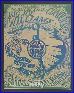 Vulcan Gas VG-16 poster BG, FD, AOR, Grateful Dead