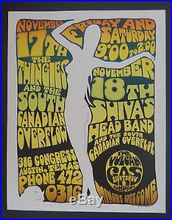 Vulcan Gas VG-4 poster BG, FD, AOR, Grateful Dead