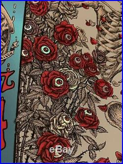 WEEN sf EMEK Foil Poster Variant Print /25 RARE Grateful Dead 2016 Gene dean GD