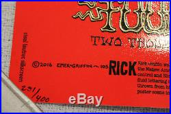 Ween Poster San Francisco 10/15 Rick Griffin grateful dead style ticket 2016