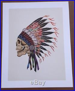 Wes Lang Grateful Dead Spring 1990 Poster / Print Warrior Skull