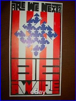 Wes Wilson Are We Next 1965 OP-1 AOR FD BG Poster