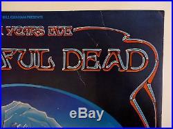 Winterland Closing Blue Rose Original Poster Signed Mouse/Kelley Grateful Dead