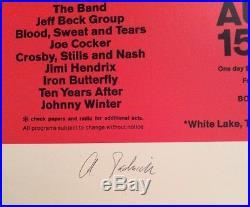 Woodstock Arnold Skolnick Poster 22x30 Signed Autographed Print OOP