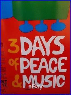 Woodstock Original 1969 Poster by Arnold Skolnick ORIGINAL! Free Shipping
