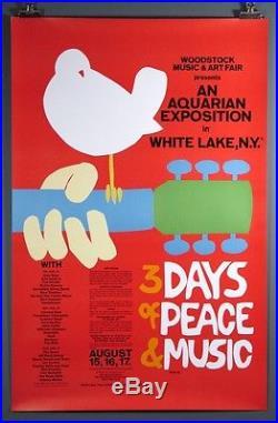 Woodstock, Original Vintage 1969 Poster Arnold Skolnick