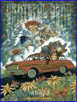 Zeb Love GRATEFUL DEAD 18x24 Screen Print LIMITED EDITION of 150 Hand Numbered